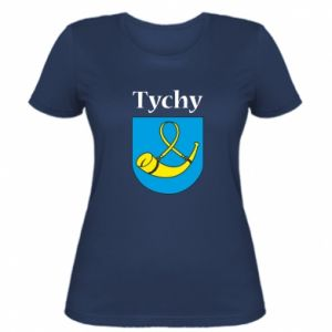Women's t-shirt City Tychy with the emblem