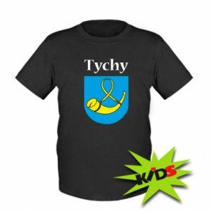 Dziecięcy T-shirt Miasto Tychy z herbem