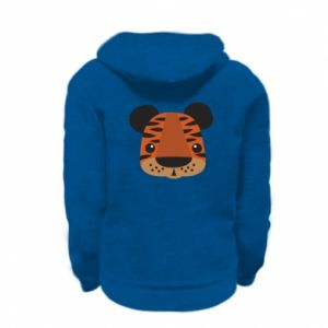 Kid's zipped hoodie % print% Children's print tiger