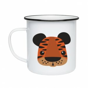 Enameled mug Children's print tiger