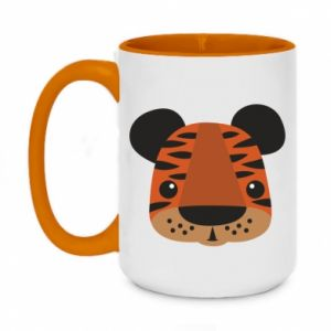 Two-toned mug 450ml Children's print tiger