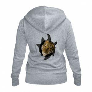 Damska bluza na zamek Tygrysie oczy - PrintSalon