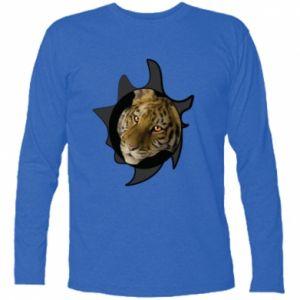Koszulka z długim rękawem Tygrysie oczy - PrintSalon