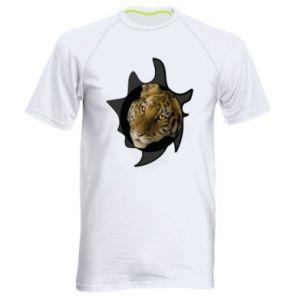 Męska koszulka sportowa Tygrysie oczy - PrintSalon
