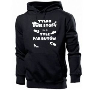 Men's hoodie Only two feet but so many pairs of shoes - PrintSalon
