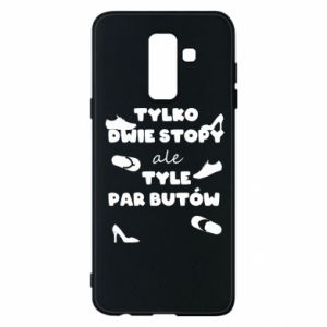 Phone case for Samsung A6+ 2018 Only two feet but so many pairs of shoes - PrintSalon