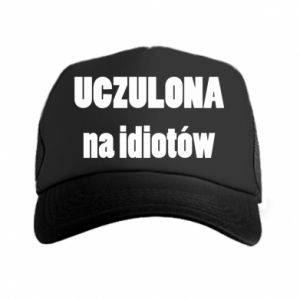 Trucker hat Sensitive to idiots - PrintSalon