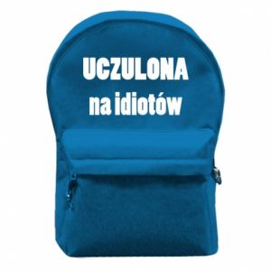 Backpack with front pocket Sensitive to idiots - PrintSalon