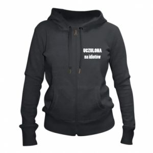 Women's zip up hoodies Sensitive to idiots - PrintSalon