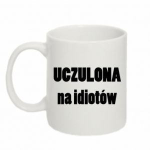 Mug 330ml Sensitive to idiots - PrintSalon