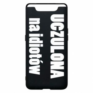 Phone case for Samsung A80 Sensitive to idiots - PrintSalon