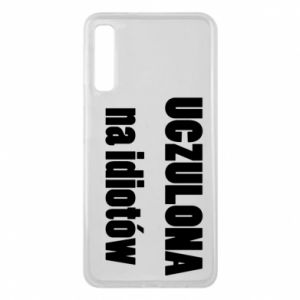 Phone case for Samsung A7 2018 Sensitive to idiots - PrintSalon