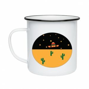Kubek emaliowany UFO