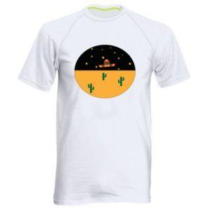 Męska koszulka sportowa UFO - PrintSalon