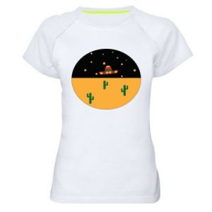 Damska koszulka sportowa UFO - PrintSalon