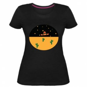 Damska premium koszulka UFO - PrintSalon