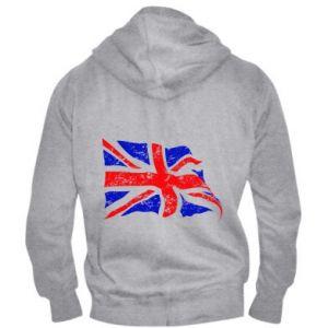 Męska bluza z kapturem na zamek UK