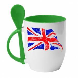 Kubek z ceramiczną łyżeczką UK