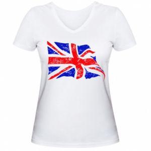 Damska koszulka V-neck UK