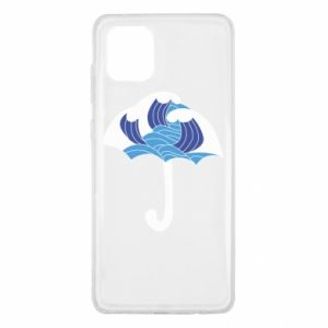 Etui na Samsung Note 10 Lite Umbrella with waves