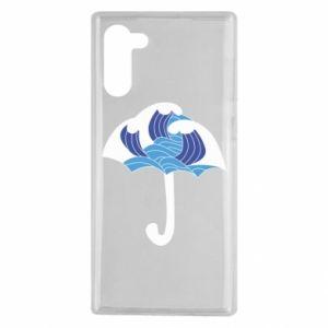 Etui na Samsung Note 10 Umbrella with waves