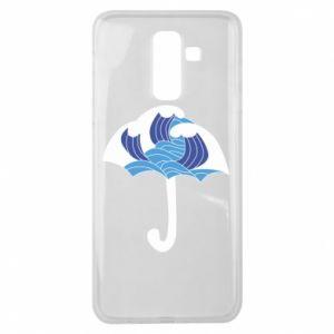 Etui na Samsung J8 2018 Umbrella with waves