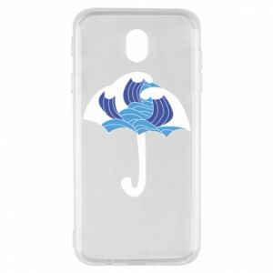 Etui na Samsung J7 2017 Umbrella with waves