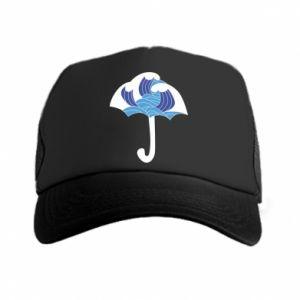 Trucker hat Umbrella with waves