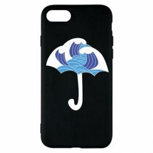 Etui na iPhone SE 2020 Umbrella with waves