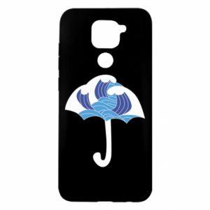 Etui na Xiaomi Redmi Note 9/Redmi 10X Umbrella with waves