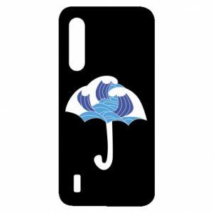 Etui na Xiaomi Mi9 Lite Umbrella with waves
