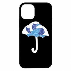 Etui na iPhone 12 Mini Umbrella with waves