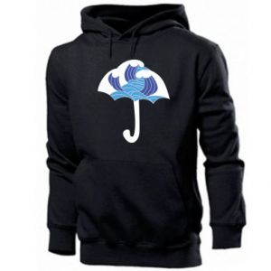 Men's hoodie Umbrella with waves
