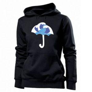 Women's hoodies Umbrella with waves