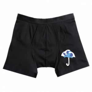 Boxer trunks Umbrella with waves
