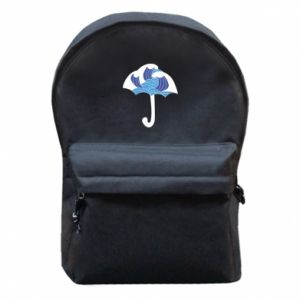 Backpack with front pocket Umbrella with waves