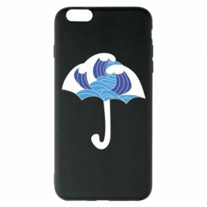 Etui na iPhone 6 Plus/6S Plus Umbrella with waves
