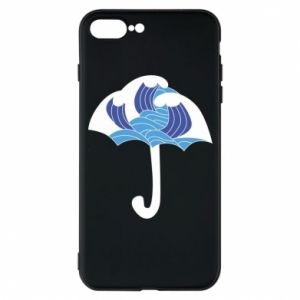 Phone case for iPhone 7 Plus Umbrella with waves