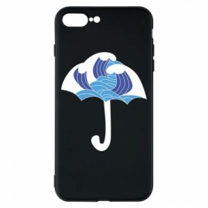 Phone case for iPhone 8 Plus Umbrella with waves