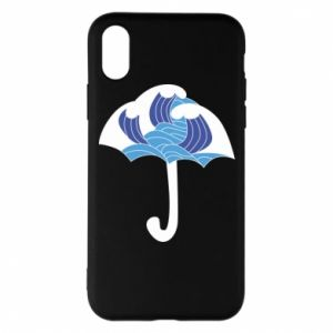 Phone case for iPhone X/Xs Umbrella with waves