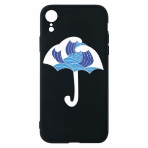 Phone case for iPhone XR Umbrella with waves