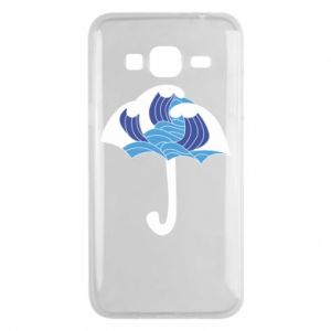 Phone case for Samsung J3 2016 Umbrella with waves