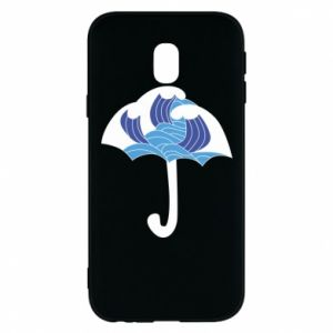 Phone case for Samsung J3 2017 Umbrella with waves