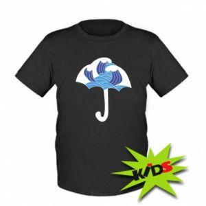 Kids T-shirt Umbrella with waves