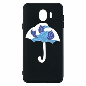 Phone case for Samsung J4 Umbrella with waves