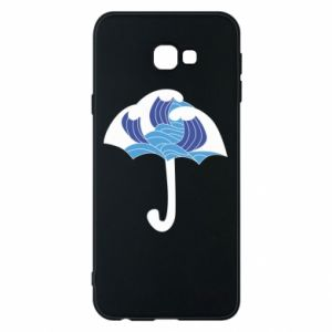 Phone case for Samsung J4 Plus 2018 Umbrella with waves