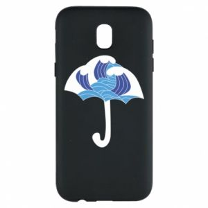Phone case for Samsung J5 2017 Umbrella with waves