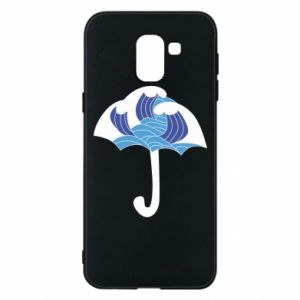 Phone case for Samsung J6 Umbrella with waves