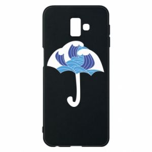 Phone case for Samsung J6 Plus 2018 Umbrella with waves