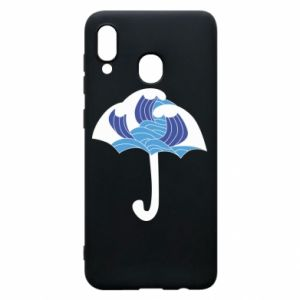 Phone case for Samsung A30 Umbrella with waves